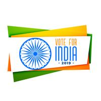 votar la bandera de la india en tri color