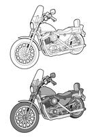 Motorcycle Bike vector design illustration template