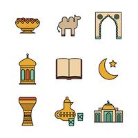 Muslim Outlined Icons