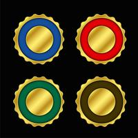 conjunto de rótulos de cores vazias de ouro ou crachá