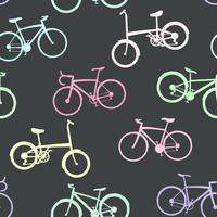 Bike collection on seamless background. vector