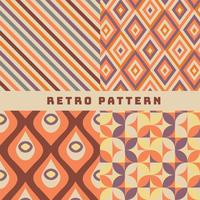 Patrón retro vector pack