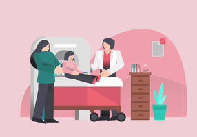 Medical Checkup For Healthcare At Clinic Vector Illustration