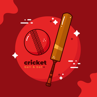 Vecteur balle cricket