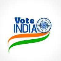 indian election banner with tri color flag
