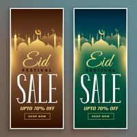 Eid Festival Sale Banner gesetzt