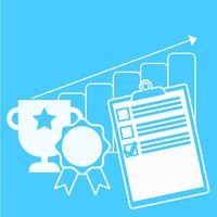 Verfolgen Sie das Banner des Geschäftsfortschritts. Flache Vektorillustration
