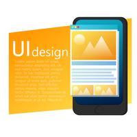 UI App Design Handy Banner. Benutzeroberfläche von App. Vektor flache Steigung Illustration