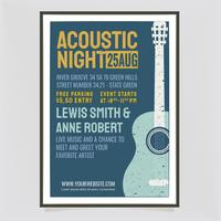 Vector Acoustic Concert Retro Poster