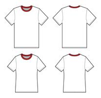 Basic Tee shirt fashion flat technical drawing template