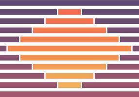 Fondo geométrico del color del atardecer