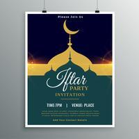 ramadan kareem iftar uitnodiging voor feestuitnodigingen