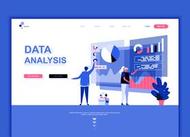 Modern flat web page design template concept of Auditing, Data Analysis decorated people character for website and mobile website development. Flat landing page template. Vector illustration.