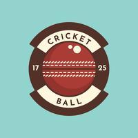 Badge balle de cricket