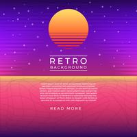 Gradient Neon Purple Vintage Retro Vector Background
