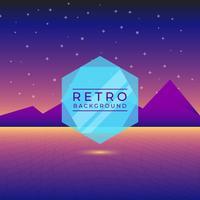 Flat Neon Retro Vector Bakgrund