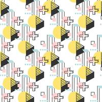 Lineares geometrisches Retro Muster