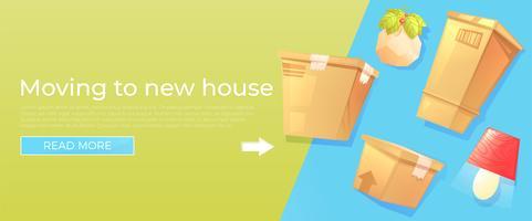 Klar flytt till nytt hus banner koncept