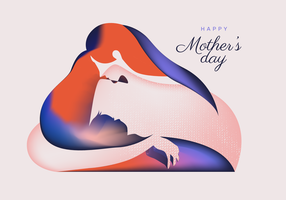 Mothers Day Silhouette Vector Abstract
