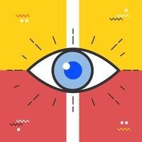 Vetor de olho abstrato