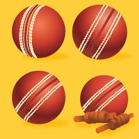 Cricket Ball Vector Pack