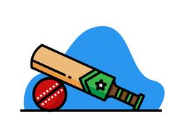 Cricket bat en bal