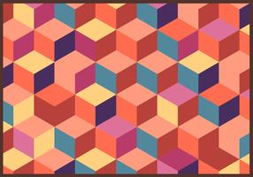 Cubes Retro Pattern Vector