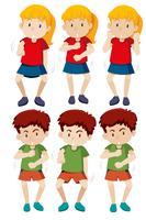 Conjunto de niño y niña de baile shmoney. vector
