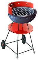 A round barbeque grill