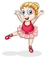 Una bailarina de ballet caucásica
