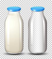 Set of milk bottle