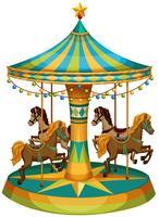 A merry-go-round ride