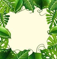 Design de moldura com folhas verdes