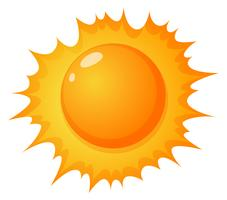 O sol quente