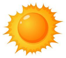 El sol caliente