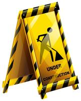 An under construction sign vector