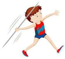 Man athlete doing javelin