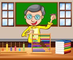 Professor de matemática na sala de aula
