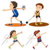 People doing track and field sports