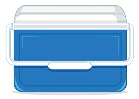A plastic ice container