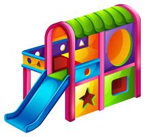 A playground slide vector