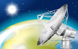 Un satélite en el espacio exterior.