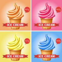 Ice creams in set of 4