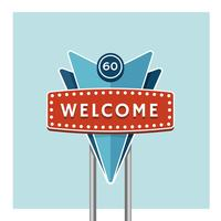 Welcome Greeting Retro Sign vector