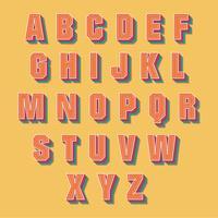 Retro Alphabet-Vektor