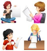 Cuatro hembras ocupadas