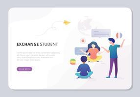 Illustration d'étudiant d'échange