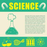 Banner design with science symbols