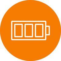 Icône de vecteur de batterie pleine