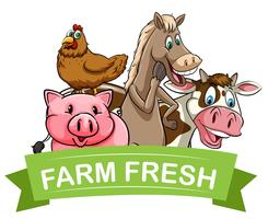 Farm fresh food label